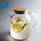 1500ml Thermo Coffee Glass Borosilicate Tea Pot With Infuser With Bamboo Lid