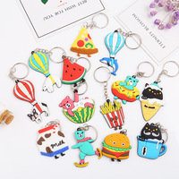 Cute 2D cartoon creative hilarious custom PVC key ring lovely bag accessories
