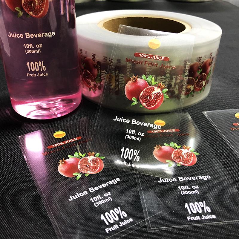 Customized Printing Self Adhesive Logo Print Transparent ...