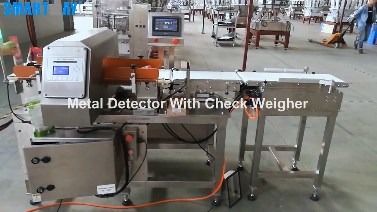 Automatic combination metal detector with check weigher