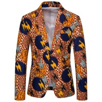 Hawaii Holiday Digital Printing Single Button Slim Fit Men Blazer autumn coat jacket