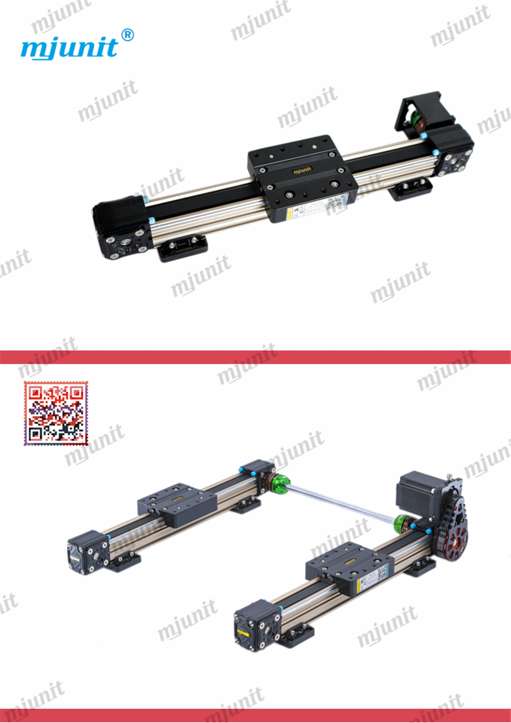 mjunit MJ40 high speed toothed belt driven linear guide rail for 3d printer Linear Actuator Linear Motion 3d Printer Parts