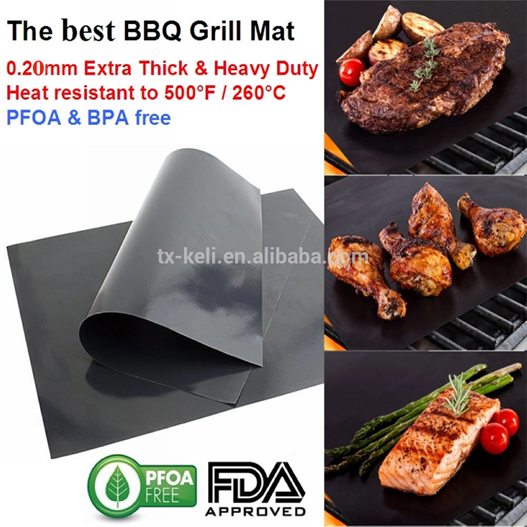 Money Back Guarantee Reusable Barbecue Sheet BBQ GRILL MAT RIGID 3 x Thicker