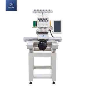 BAI building embroidery shop single head 15/12/9 needles computerized cap embroidery machine