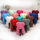 Decorative Flowers Wreaths 2020 Valentines's High Quality Forever Eternal Flower Teddy Rose Bear 25 Cm with Gift Box