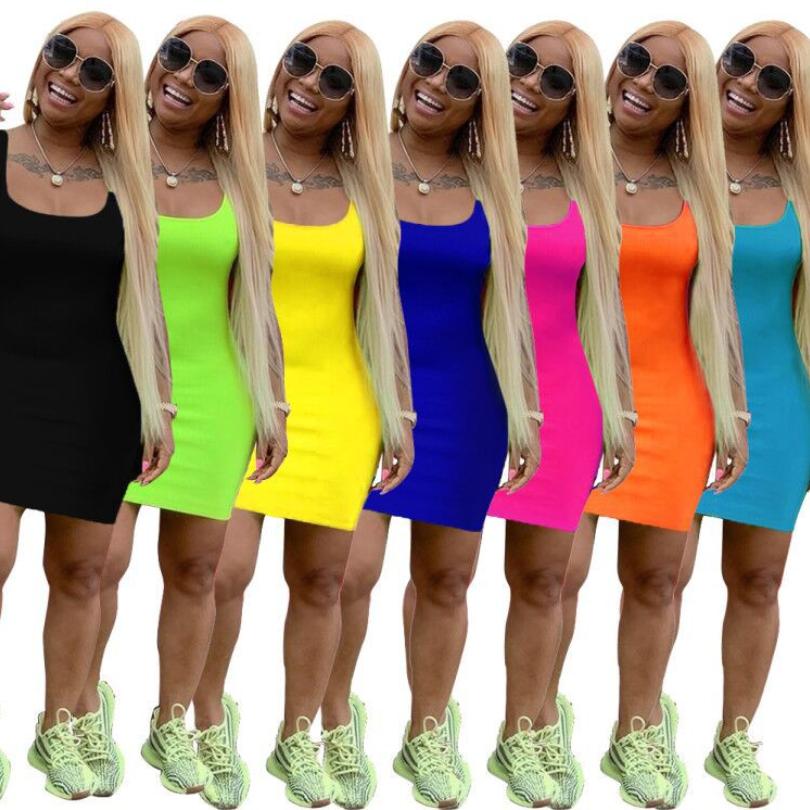 Gaun Musim Panas Wanita, Setelan Dua Potong Pakaian Potongan Tanpa Lengan Warna Solid