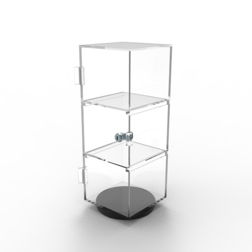 glamdisplay 6 x 6 x 16&quot; Rotating Mini Plexiglass Lucite Clear Acrylic Tower Showcase <strong>Display</strong>