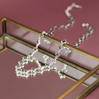 925 sterling silver charmed cross hollow out chain choker necklace