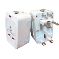 World wide Internation 13a to 3 pin Uk Plug Power Adaptor Universal Travel Adapter with 2 usb