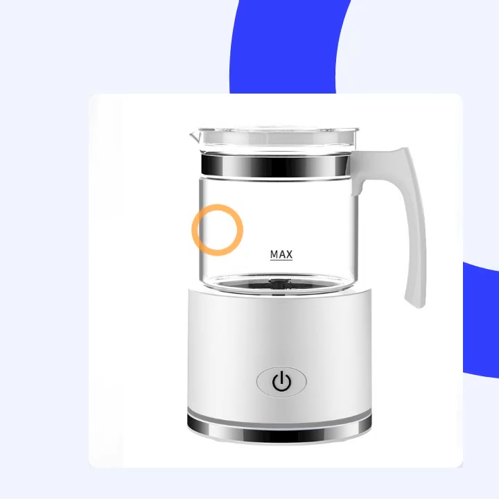 Portable electric kitchen automatic espresso capachino jug coffee milk warmer frother magnetic rotary milk foam maker
