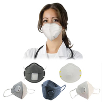 folding dust industrial grade dust respirator n95 mask with breathing valve