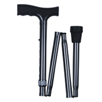 bronze Adjustable foldable aluminum walking support stick cane crutches folding