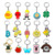 Manufacturer directly customized wholesale design logo kinds cute diy gift keychain key ring