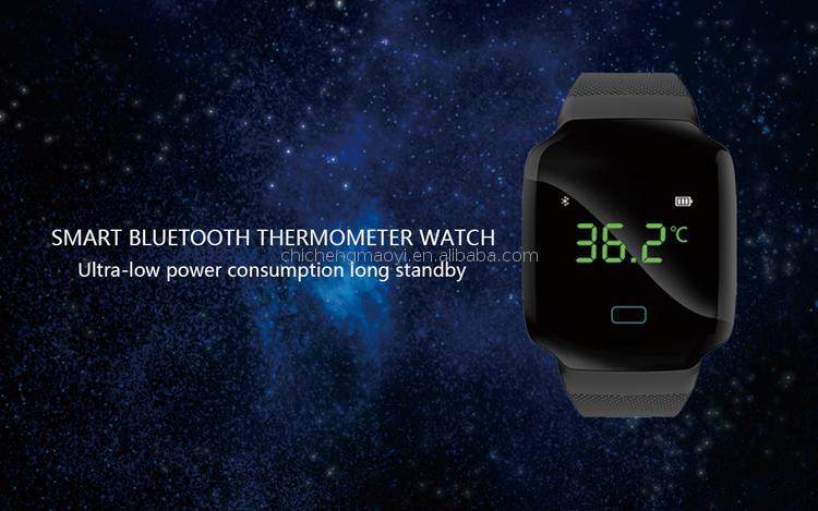 Atex montre avec température et surveillance de bp l'arythmie régulation bracelet api oxigenation