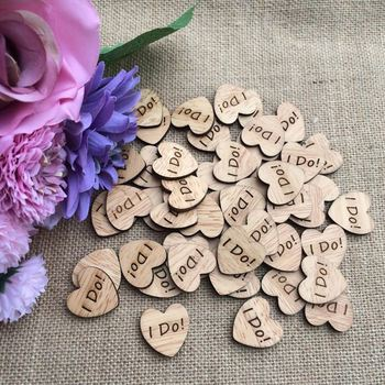 50pcs Rustic Wood Wooden Love Heart Wedding Table Scatter Decoration Crafts DIY Craft Accessories vintage wedding decorations