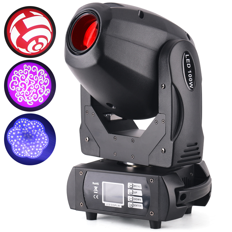 Guangzhou professional 100w mini 11 color prism gobo stage light price dmx led spot moving head