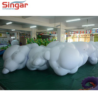 Giant inflatable led lighting clouds