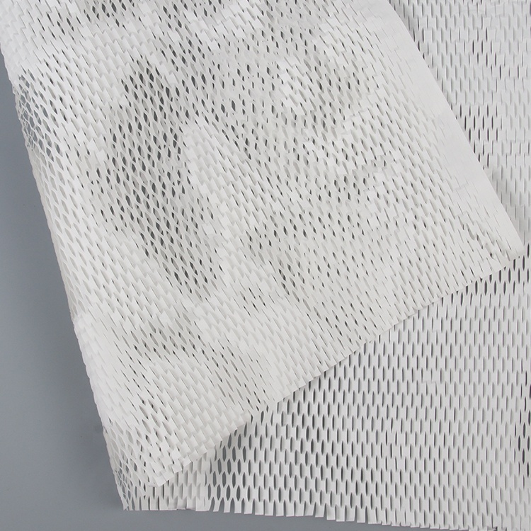 Buffer protection usage white cushion paper anti-collision wrapping honeycomb kraft paper