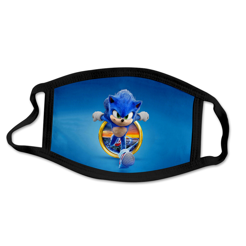 Sonic The Hedgehog Mask Windproof And Dustproof 3d Printing Washable Cartoon Mask For Children And Adults Cosplay Mask Aliexpress