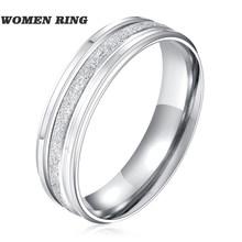 Модные титановые стальные кольца для мужчин и женщин, серебряное обручальное кольцо, парные ювелирные изделия, мужские Индивидуальные Коль...(Китай)