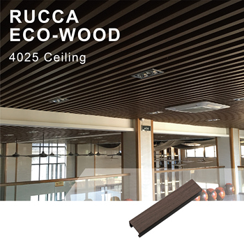 Foshan Wood Plastic Composite Ceiling Wpc Interior Decorative Ceiling Tiles Wood Ceiling Paneling For Hotel Home Shop 40 25mm Buy Wood Ceiling