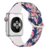 navy rose  silicone watch band for apple watch