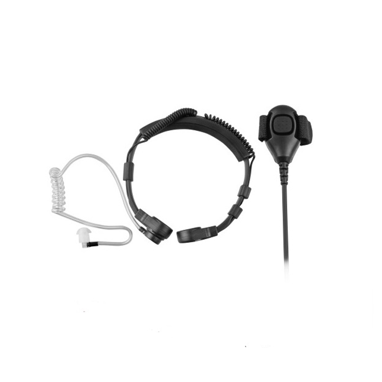Neck throat mic headset earpiece for walkie talkie Motorola HT1000 XTS2500 XTS5000 - idealBuds Earphone | idealBuds.net