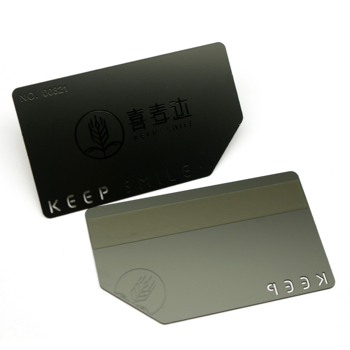 Custom cheap blank metal black card engraved stainless steel VIP card