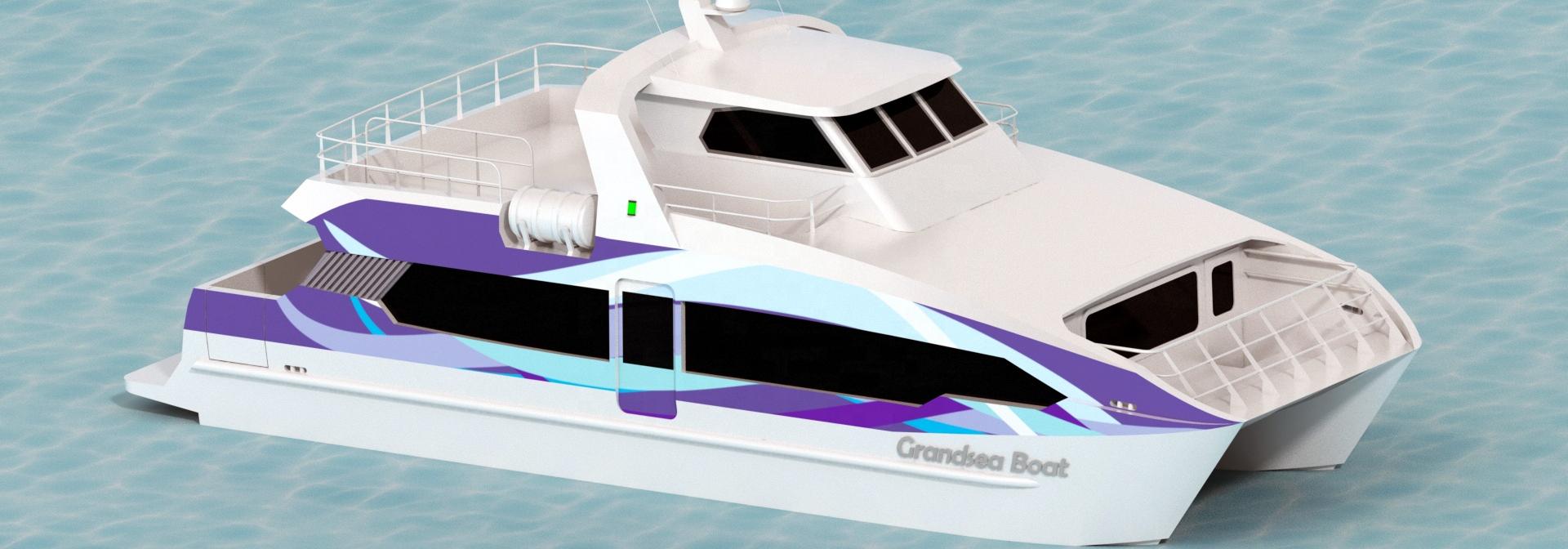 China catamarán barco de pasajeros, fabricante de aluminio ferry para venta