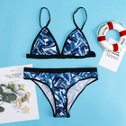 Discount Womens Swimwear Two Piece Brazilian Fashion Printed Girl Sexy Triangle Bikini Beach Women Ladies Bathing Suits Swimwear