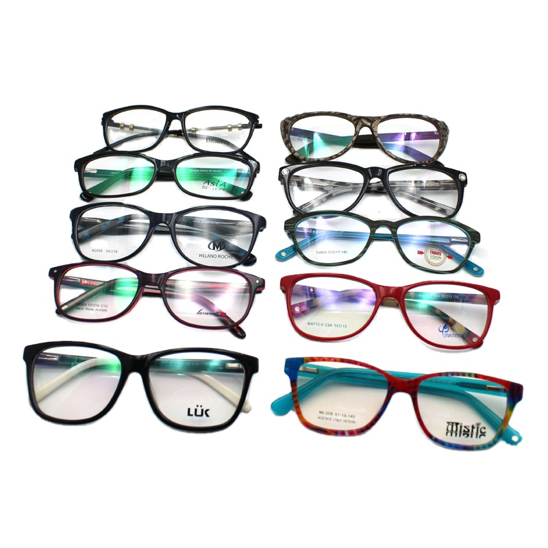 Free samples assorted ready mixed stock cheap glasses acetate optical eyeglass frames eyewear