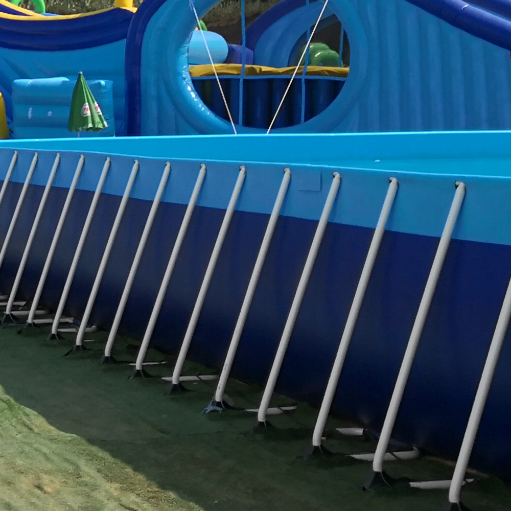 Commercial Metal Frame Steel Removable Swimming Pool Above Ground Water Park Pool