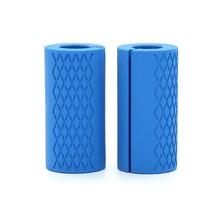 1 пара штанги ручки для гантелей толстые жировые ручки Нескользящая силиконовая резина для гантелей толстые ручки для штанги(China)