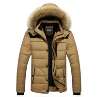 Winter Men Warm Jacket Thick Men Outwear Fur Collar Mens Jackets