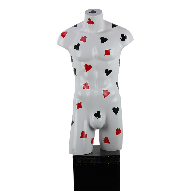 High quality half-body poker male torso mannequin