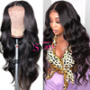 Ms Mary Wigs Human Hair Lace Front, 180% Density Pre Plucked Brazilian Body Wave Virgin Cuticle Aligned Wigs For Black Women