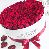 Wholesale round flower box luxury,round flower rose box,flower box