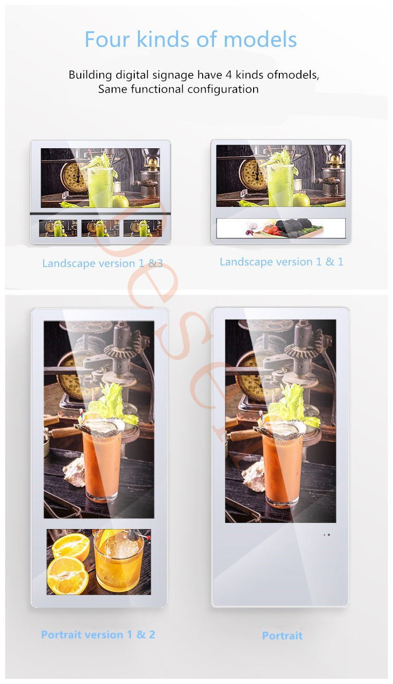 22 Inch Android Digital Signage Lcd Advertising Display All in One Screens Elevator Advertising Display Lcd Screen