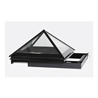 Top Window Glass Glazed Sliding Opening Pyramid Skylight For A Flat Roof Extension Pyramid Roof Window