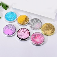 2019 New Style Professional Fashion Sequin Colorful Quicksand Mirror Double Folding Flip Lady Makeup Mirrors