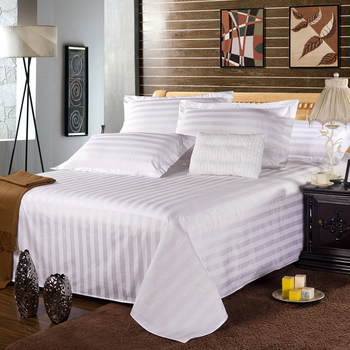 Wholesale white wedding single hospital medical hotel fitted 100% cotton fabric 4 piece bedding set bed sheet