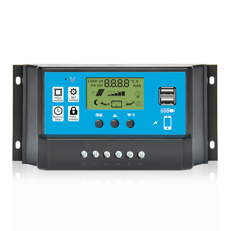 Factory price Lead acid battery 40a 50a 60a 12v 24v solar charger controller