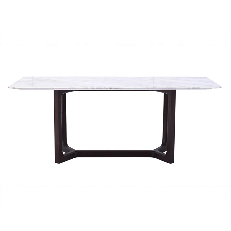 Modern design luxe wit marmer top houten basis eettafel