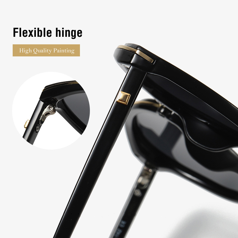 2019 Beautiful fashion women polarized sunglasses gold rims plastic tac holiday female sunglasses