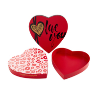 Eco-Friendly Custom Design Wholesale Heart Shape Chocolate Wrapping Packaging Paper Gift Box Luxury With Logo