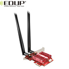 EDUP EP-9636GS WiFi 6 3000Mbps Bluetooth 5.0 PCI-E PCI Express Network Card Intel AX200