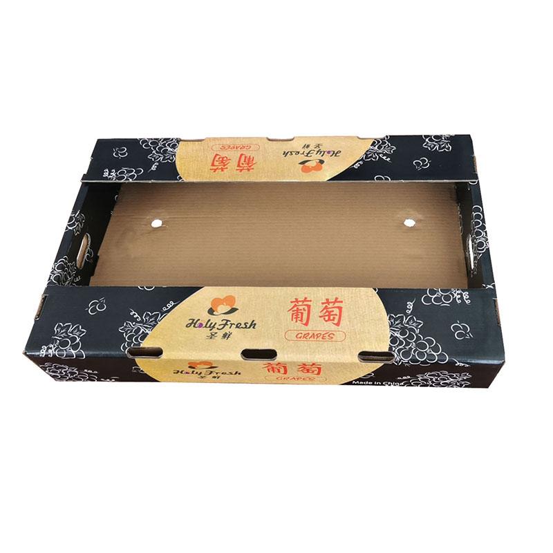 공장 더블 벽 강한 골판지 포장 상자 과일 상자 야채 과일 인쇄 포장 상자