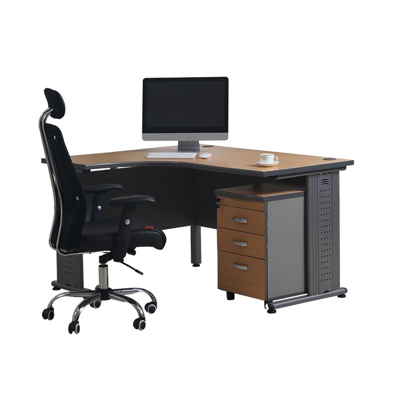 L Shaped Melamine Office Desk Standard