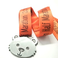 Custom High Quality Zinc Alloy Bear Shape Medal with Lanyard for Half Marathon