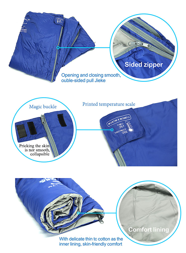 Travelling ultralight sleeping bag for travel